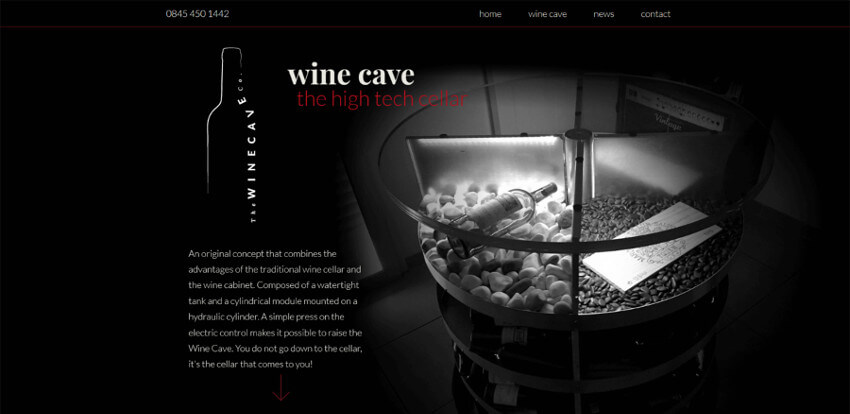 The Wine Cave Company Website