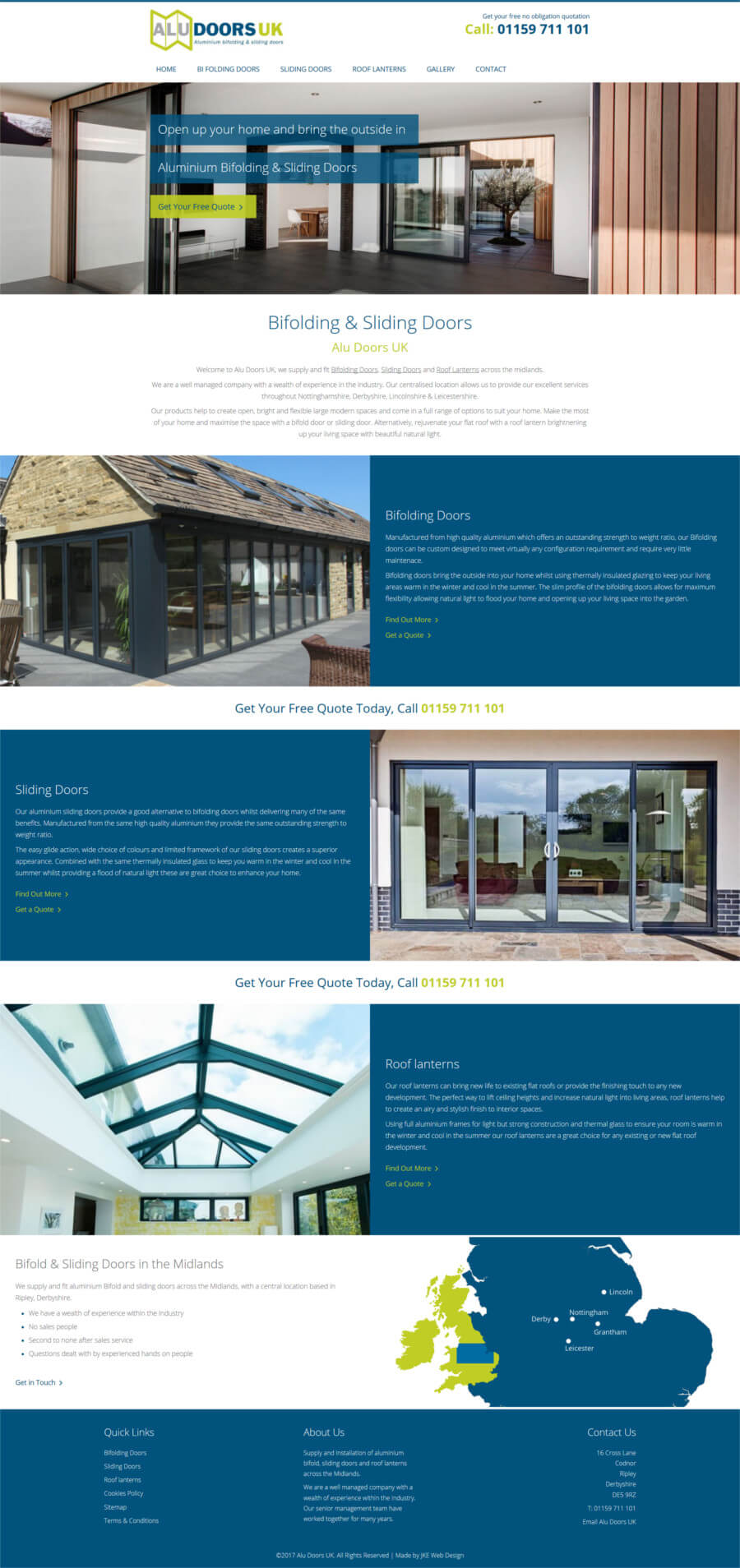 Alu Doors UK website