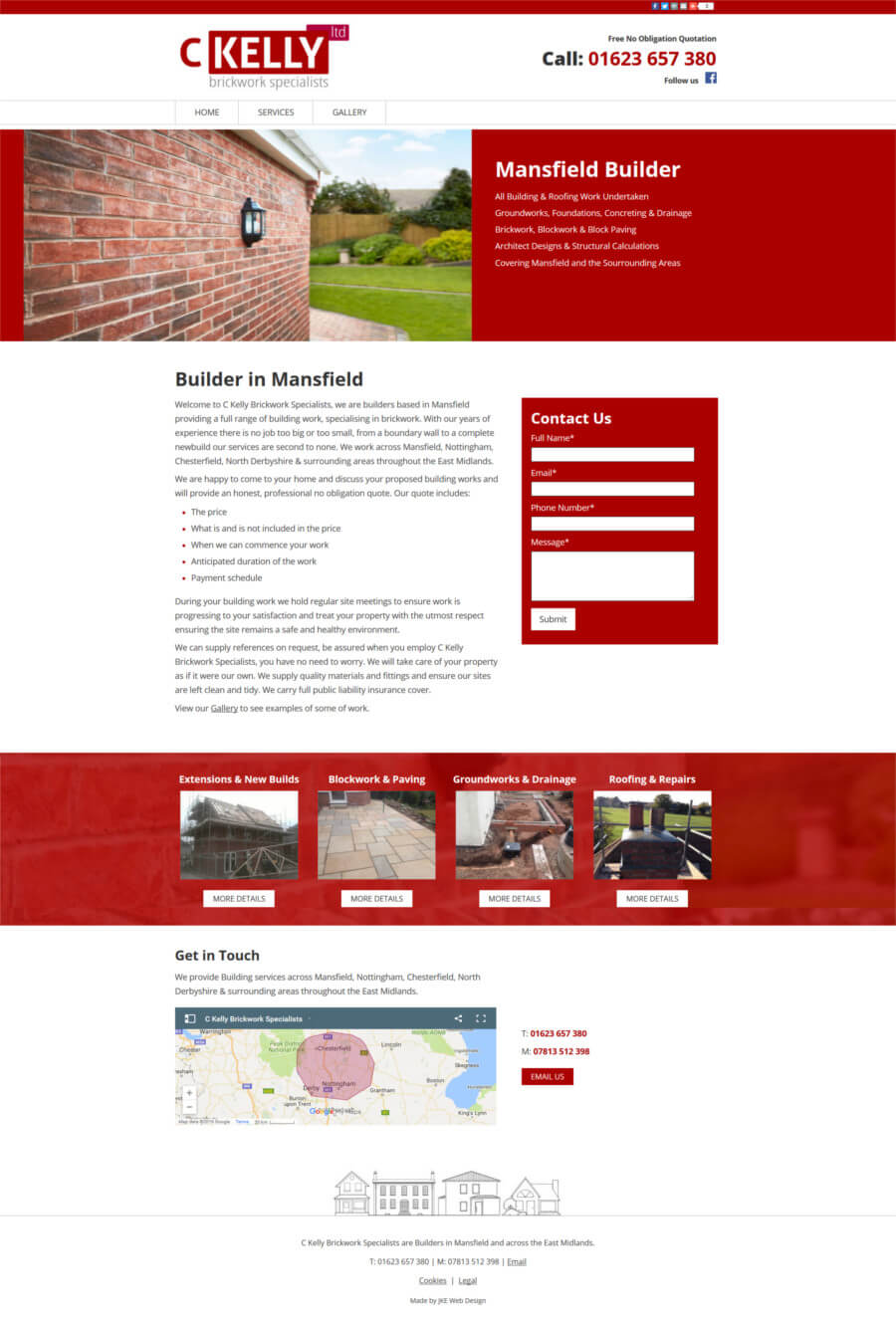 Chris Kelly Brickwork Specialists website